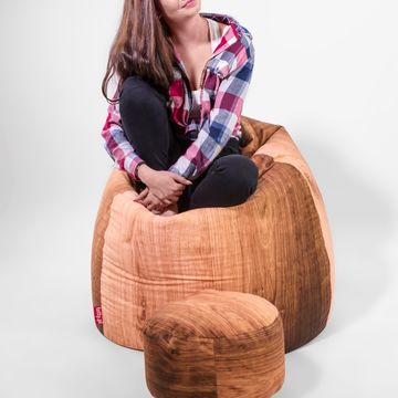Wooden Pillow + pufa